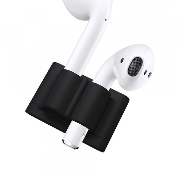 Крепление для AirPods на ремешок Apple Watch (Black)