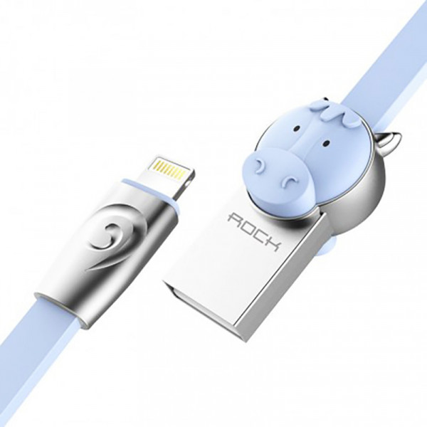 Кабель ROCK Horse Lightning (1m) (Blue)