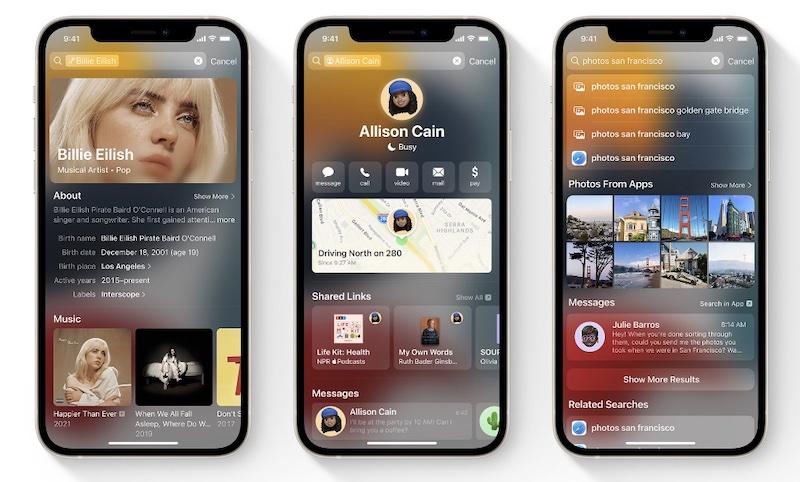 Apple Spotlight — поисковый монстр появился в iOs 15